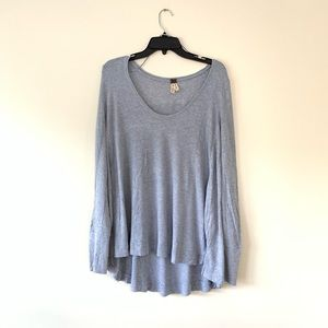 Free People   We The Free Gray Thermal Long Sleeve